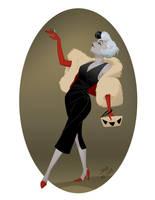 Glamorous Cruella de Vil by The-Shizzbot