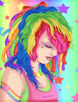 Scruffy Fluffy Rainbow Love by TheLastHuzzah