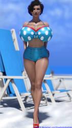 Daphne Summer Beach by bluedogindustries