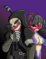 Ravat and Tinsel as Reaper and Widowmaker by neyola298