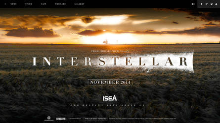 Interstellar Webdesign by bpenaud