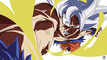 Goku Ultra Instinct Mad by AndyJr18