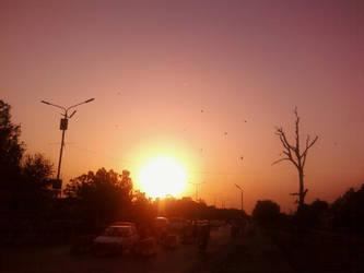 melancholic sunset by oflird