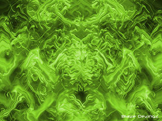 Wild Green Liquid Abstract ima by Blazedezignz