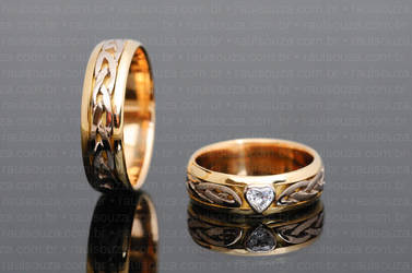 Celtic Knot Wedding Rings by raulsouza