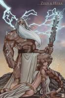 Zeus and Hera by daveswartzart