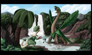 Tropius vs Breloom by Shoyu-Rai