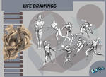 Life Drawings 2 by PCHILL