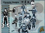 Character Designs 1 by PCHILL