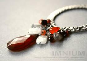 Phoenix long necklace by IMNIUM