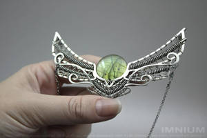 Winged sun necklace IV by IMNIUM