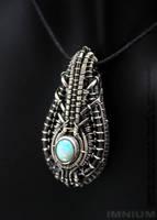 Opal mini borg pendant by IMNIUM
