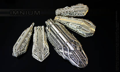 Five spaceship pendants by IMNIUM