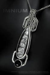 Orthoceras and onyx pendant by IMNIUM
