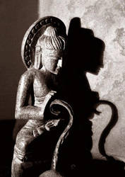 buddha with curl by qubelee