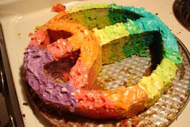 Rainbow Cake by ickyface