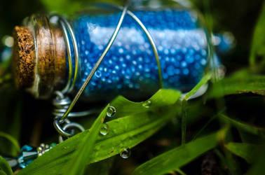 Mana Potion Necklace by NikidaEve