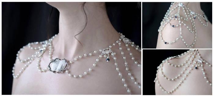Elegant Draping Bridal Necklace by NikidaEve