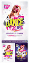 Dance Players Flyer Template PSD by EAMejia
