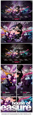 House Of Pleasure Flyer Template PSD by EAMejia