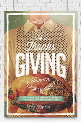 Thanksgiving Day Flyer Template by EAMejia