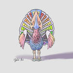 Bird color palet creature by leme-username