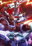 Voltron Force vs Monster by papillonstudio