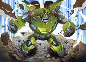 Transformers BulkHead by papillonstudio