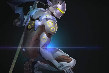 Overwatch Genji by papillonstudio