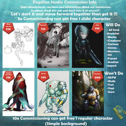 ATTENTION : COMMISSION PROMO by papillonstudio