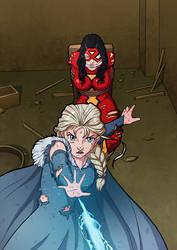 Commission : Elsa Save Spider Women by papillonstudio