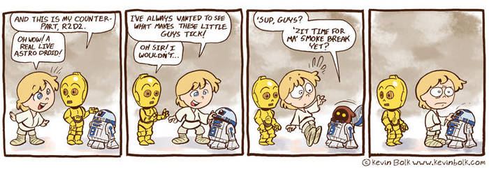Star Wars Funnies: R2D2 by kevinbolk