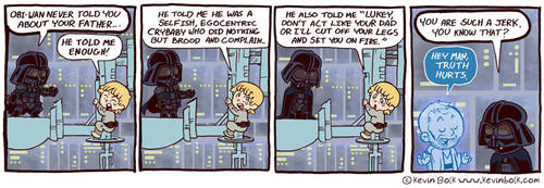 Star Wars Funnies: Darth Vader by kevinbolk