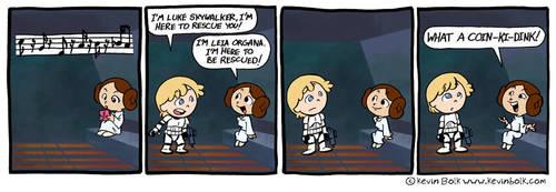 Star Wars Funnies: Leia by kevinbolk