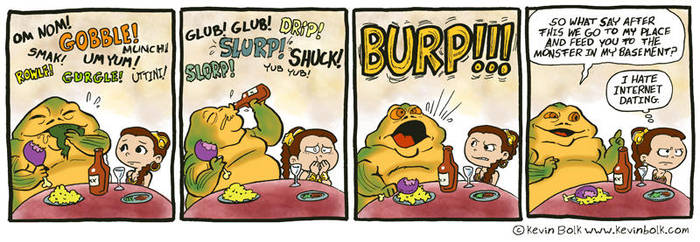 Star Wars Funnies: Jabba by kevinbolk