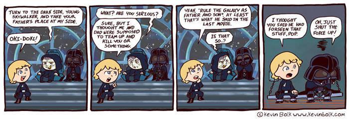 Star Wars Funnies: Palpatine by kevinbolk