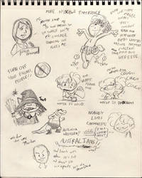 SCBWI Secret Sketch Diaries p2 by kevinbolk