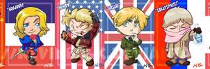 Hetalia: Allies Card Set by kevinbolk