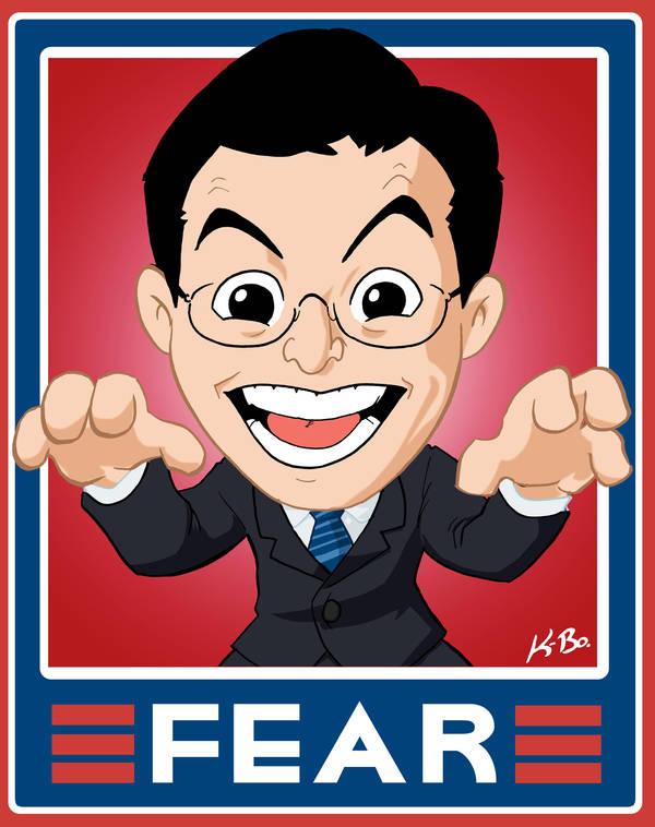 Stephen Colbert 'Fear' Sign by kevinbolk