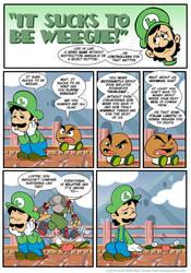 Sucks to be Luigi: Goombas by kevinbolk