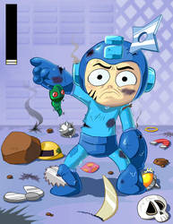 Megaman-You're Killing Me Here by kevinbolk