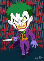 Bat-Villains: Joker Art Card by kevinbolk