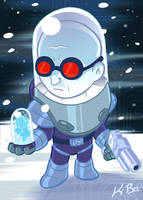 Bat-Villains: Mr. Freeze Art Card by kevinbolk