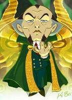 Bat-Villains: Ra's Al Ghul Art Card by kevinbolk