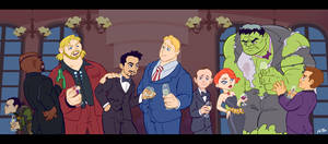 The Avengers Dinner Party by kevinbolk