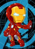 Avengers Iron Man Art Card by kevinbolk