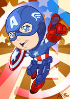 Avengers Captain America Art Card by kevinbolk