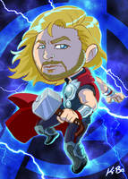 Avengers Thor Art Card by kevinbolk