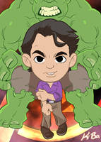 Avengers Bruce Banner/Hulk Art Card by kevinbolk