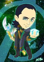 Avengers Loki Art Card by kevinbolk